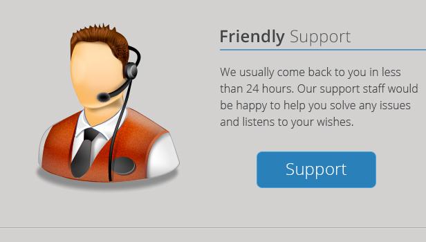 Mega Menu Friendly Support